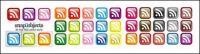 textura de cristal de suscriptores de RSS de icono pequeño (el botón)