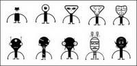 Villano extraterrestre lindo raro material de vector de Aberdeen