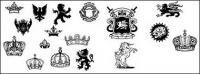 Vetor de elementos de design Royal