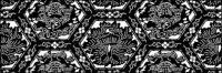 ベクトル伝統的なタイル張りの背景素材-44
