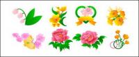 牡丹の花、バラ、チューリップ、他の花