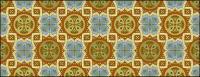 古典的なタイル パターン ベクトル-5