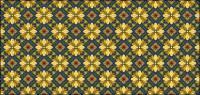 古典的なタイル パターン ベクトル-7