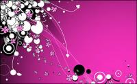 ベクトルの紫色の花