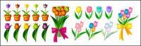Tulip material vector
