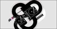 DJ музыкальный вектор материал