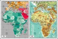 Mapa del vector del material exquisito mundo - mapa de África