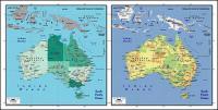 ベクトル地図の絶妙な材料の世界 - オーストラリア地図