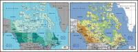絶妙な材料の世界 - カナダのマップのベクトル地図