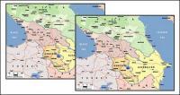 Carte de vecteur de la matière exquis du monde - la carte du Caucase