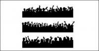 Fotos de gente ovacionó material de vectores