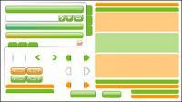 Web material de diseño - decoración, botones de navegación