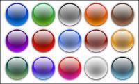 Éléments de conception de page matériel vecteur - tour de boule de cristal