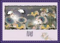 Vector auspicioso clásica de material - planes de grúa Lotus