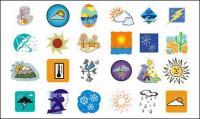Cuaca kartun seri vektor bahan