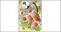 Material de ilustraciones vectoriales de Coffee theme