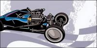 Matériau de vecteur de karting