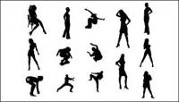 Figures de femmes et sport vecteur