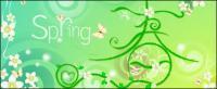 Vector primavera tema material-2