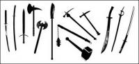 Gehen Sie-Media produziert-Vektor-Material - antike Waffen
