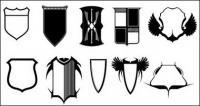 Medios vaya producen material de vectores - escudo