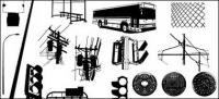 移動メディアの生産のベクター素材 - 都市の公共施設