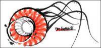 Vida marina - medusas vector de material