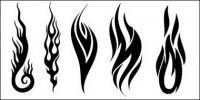 Todo tipo de cool fuego vector logotipo (4)