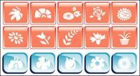 Ícone do vetor do tema de flor