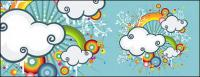 Arco-íris, ilustrações de tendência de nuvens