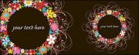The composition of the colorful wreath of flowers