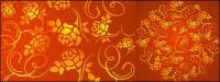豪華なバラのパターンの背景