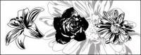 Flores de blanco y negro