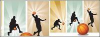 ベクトル材料のバスケット ボール選手の写真