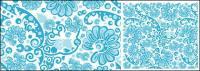 ベクトルの青色の背景素材のパターン