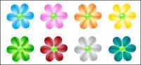 web2.0 คริสตัลดอกไม้ vector วัสดุ