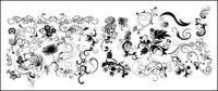 Varias prácticas dinámico patrón en blanco y negro