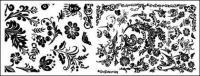 Varias prácticas áspera patrones en blanco y negro