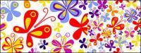 Arrière-plan coloré papillon