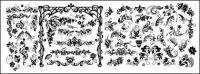 Numéro continentale de la mode matérielle de vecteur patron en noir et blanc