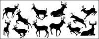 鹿のシルエット素材をベクトルします。