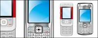 素材の両方の携帯電話をベクトルします。