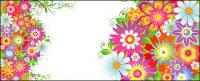 カラフルな花模様