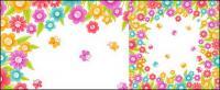 Las coloridas flores de vectores de material de cristal pequeño