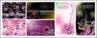 Documentation de fleurs de fantasy vecteur