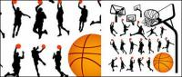 บาสเกตบอลรูป silhouettes และ Lan Qiujia