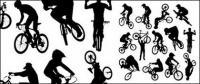 シルエットを図形のスポーツをサイクリング
