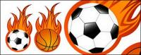 Flamme de football et le basket-ball