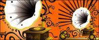 Gramophone-Muster und Nostalgie