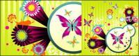 蝶の活気のあるスタイルとパターン